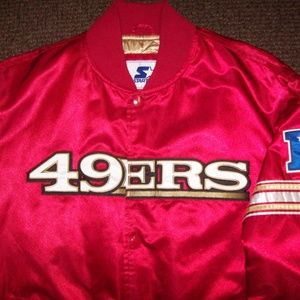 SAN FRANCISCO 49ERS STARTER Snap Down Jacket XL